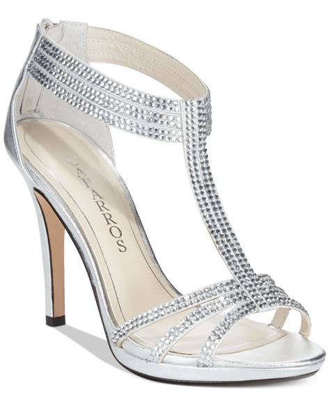 silver evening shoes caparros maddy evening sandals in silver silver metallic