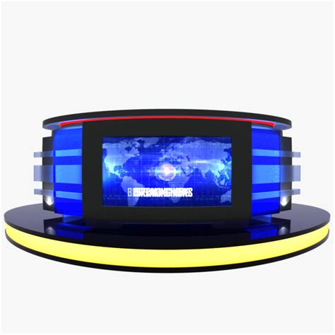 tv studio desk tv studio news desk 12 by canan85 3docean