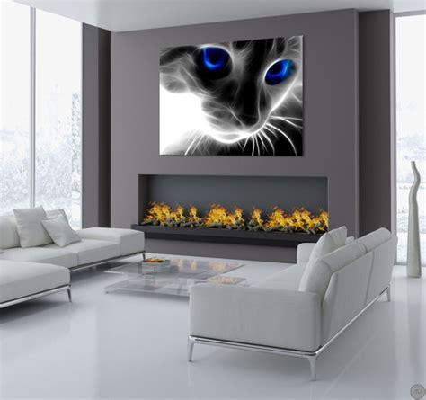 abstract cat modern art print artwall