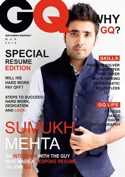 magazine cover design jobs this guy s magazine style resume got him an internship at