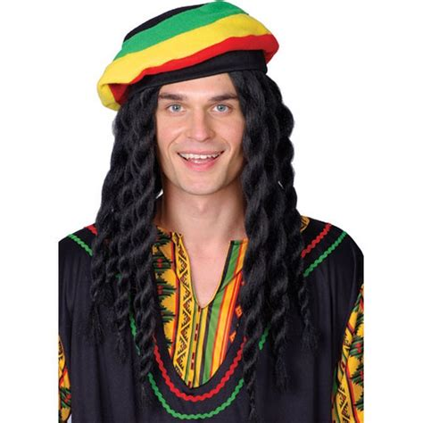 rastafarian hair rasta man wig fancy dress mens