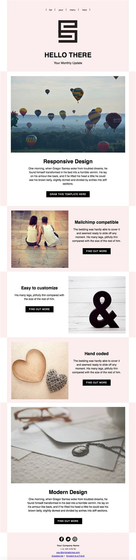 the 25 best mailchimp newsletter templates ideas on