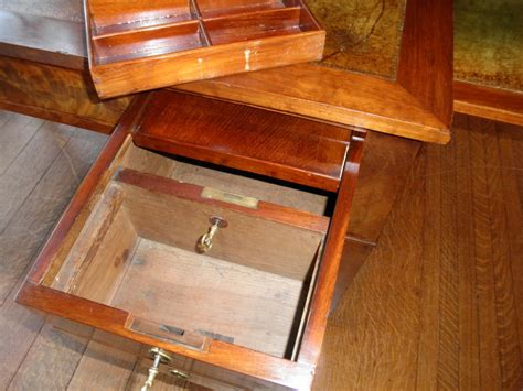 desk with compartments secret lockable desk compartment stashvault