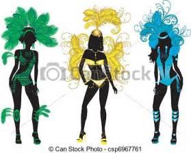 vector clip art de siluetas carnaval vector