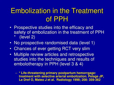 pph treatment ppt interventional radiology in the treatment of