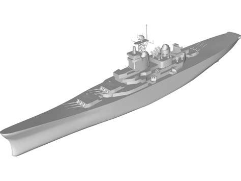 Blender Yamato iowa battleship 3d model 3d cad browser