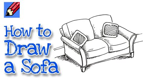 how to draw a couch easy how to draw a sofa real easy for kids and beginners