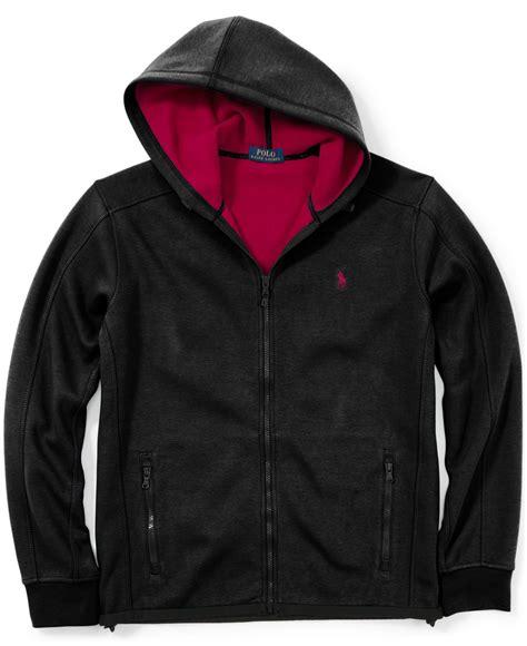 Polos Zip Hoodie lyst polo ralph fleece zip hoodie in black for