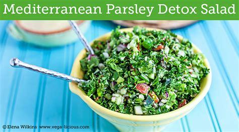 Detoxing With Parsley Detox by Mediterranean Detox Parsley Salad Vegalicious