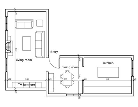 Dining Room Floor Plan How Could I Make My Space Much More Modern Without