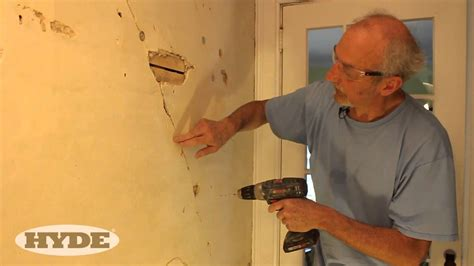 Small D Patch On Interior Wall by Fix Cracks In Plaster Like A Pro