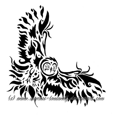 tribal owl tattoo pictures tribal owl clipart clipartxtras