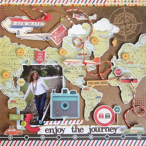 Scrapbook Travel Album Discover New Zealand by Would Like To Do Something Like This For Title Page Of