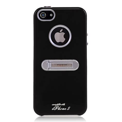 Hardcase Armany Stand Iphone 5 82xoxo black chrome with stand for apple iphone 5