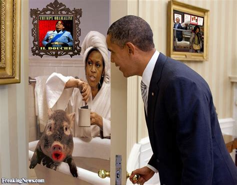 what women do in the bathroom michelle obama in the bathroom with a pig pictures