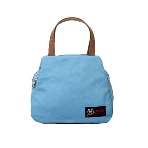 Print Insulated Lunch Bag fashion portable insulated canvas lunch bag thermal food