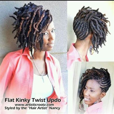 soft flat twist updo flat kinky twist updo natural hair style braids