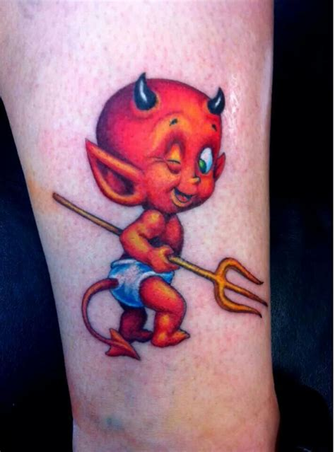 small devil tattoos best 25 ideas on