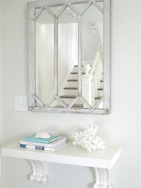 Wall Mounted Foyer Tables wall mount console table cottage entrance foyer molly frey design