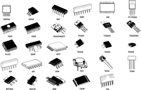 2 types of integrated circuit integrated circuit package types vintage computer chip collectibles memorabilia jewelry