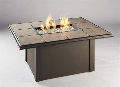Furniture Romantic Natural Gas Fire Pit Table Bring Warm Gas Firepit Tables