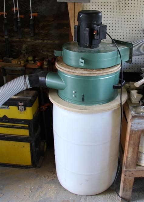 harbor freight barrel fan a cyclone chip separator for a dust collector 3