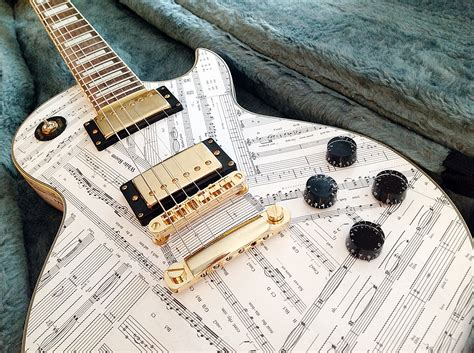 How To Decoupage A Guitar - bespoke gifts decoupage