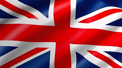 uk colors uk united kingdom flag waving loop 4k