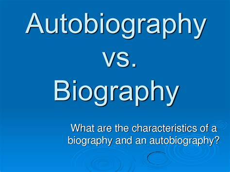 characteristics of biography and autobiography exploring elements of biography and autobiography lesson