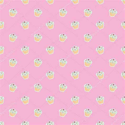 cake background pattern vector seamless vector pattern or texture with little cupcakes