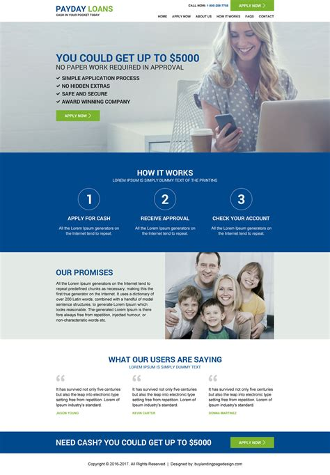 Launch Your Business Online With Landing Page Design Templates Free Mortgage Website Templates
