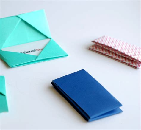 paper folded gift card holders a subtle revelry