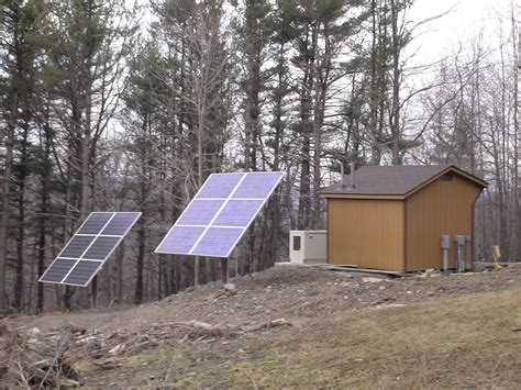 Solar Shed Power by Grid Cabin Power Shed Solar Wind Fx