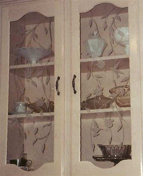 Glass Etching Designs For Kitchen 169 Best Images About Glass Cabinet Doors On Pinterest