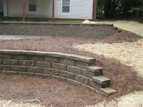 segmental concrete retaining wall installation mcplants
