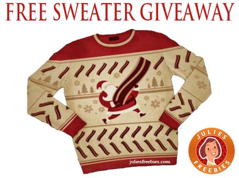 Free Giveaways 2014 - free bacon christmas sweater giveaway julie s freebies