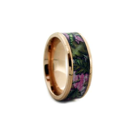 gold pink band pink camo wedding rings by 1 camo