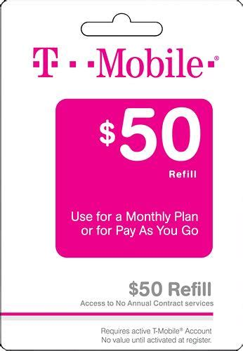 T Mobile Gift Card - 50 t mobile refill card giftcardshunters com