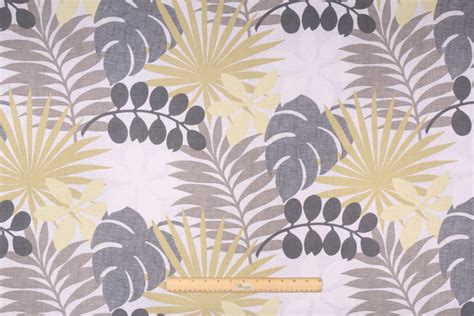 waverly drapery fabric waverly palm printed cotton drapery fabric in gray