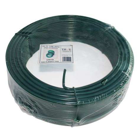 galvanised line straining tension wire green pvc coated