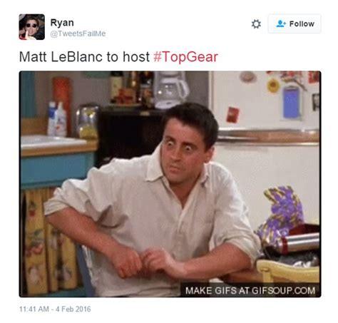 Joey Friends Meme - twitter erupts in friends memes after matt leblanc is