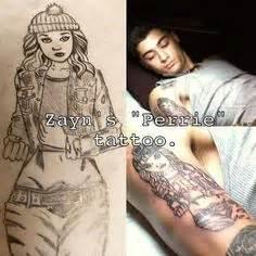 perrie tattoo on zayn s arm zayn malik tattoo of perrie edwards dumb cute but