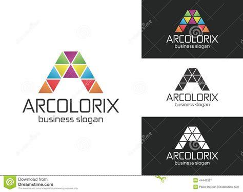 Arcolorix A Letter Logo Stock Vector Illustration Of