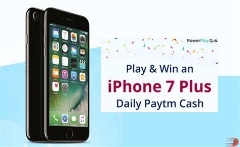 Play Quiz And Win Money For Free - paytm powerplay quiz play and win an iphone7 plus paytm cash flashsaletricks