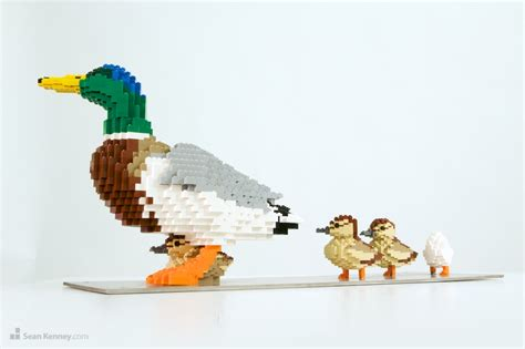 Statue Home Decor Sean Kenney Art With Lego Bricks Duck And Ducklings