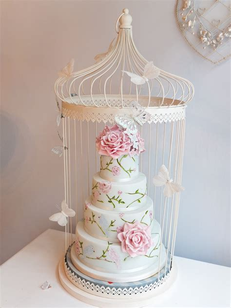 White Metal Etagere Birdcage Cake The Real One Is Being Transported To Devon