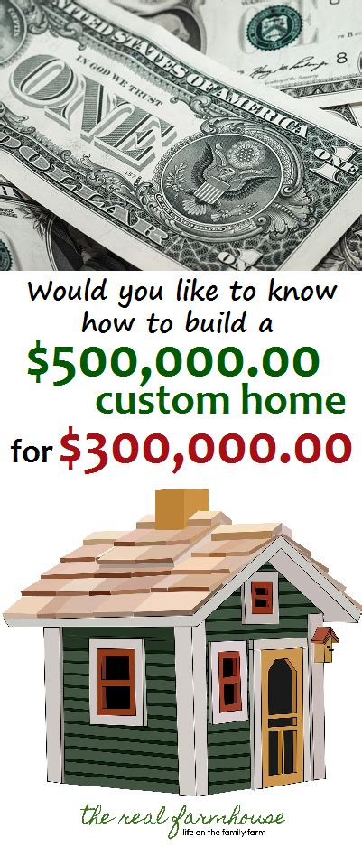 what to know when building a house would you like to know how to build a 500 000 home for