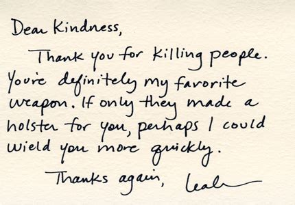 Thank You Letter Kindness kill with kindness a small act of kindness can