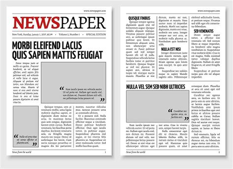 Vintage Newspaper Template Graphics Creative Market Free News Bulletin Templates