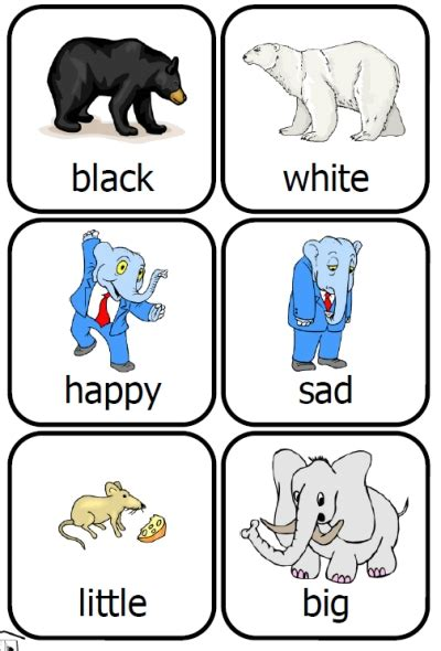 printable opposite cards for preschool quot cross race quot over child handicaps via education technology